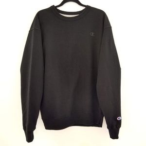 Champion Boxy Fit Black Logo Sweatshirt
